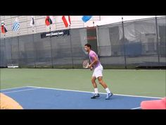 Roger Federer and Grigor Dimitrov 2014 Rogers Cup Practice (8-4-14) - YouTube