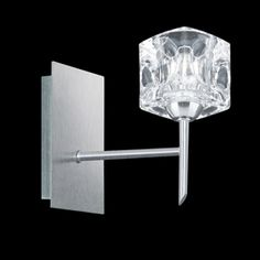 Searchlight 4342 2 ice cube double wall bracket satin silver finish searchlight ice cube single wall light in satin silver mozeypictures Images