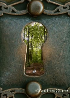 Alice in Wonderland White Rabbit Key Hole Fine Art Photograph 16x20 Whimsical wall decor. $59.00, via Etsy.