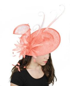 Hats By Cressida 13 Inch Adonis Sinamay Ascot Fascinator Hat Women S With Headband Baby Pink At Clothing