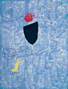 "Miro (The Archer)    1927  Oil on canvas  116 x 89 cm / 45 7⁄10 x 35"""