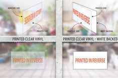 For custom window stickers, visit Print 2 Media. Our printed clear window vinyl stickers add impact to your shop window. Custom Window Stickers, Vinyl Signs, Shop Window Displays, Photo Quality, White Ink, All The Colors, Signage, Adhesive, Prints