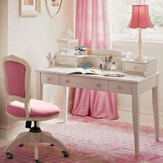 pretty pink office