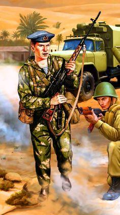 Soviet VDV paratrooper in Afghanistan