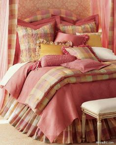 Pink bed room set