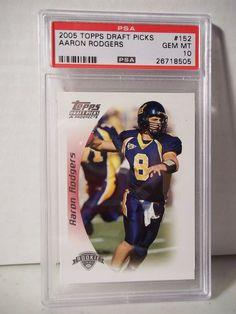 bf9c59ed9 2005 Topps Draft Picks Aaron Rodgers Rookie PSA Gem Mint 10 Football Card   152