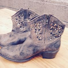 Frye booties with studs, size 8 Never worn!! Awesome boots! Frye Shoes Ankle Boots & Booties