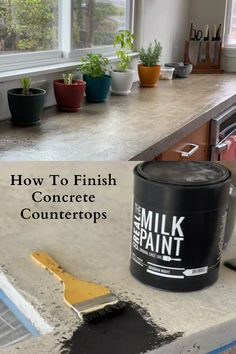 We show you how to finish concrete countertops with Real Milk Paint Products from beginning to end in our blog post. Pure Tung Oil, Real Milk Paint, Wood Wax, Painting Concrete, Hot Pot, Concrete Countertops, Soapstone, Wood Grain, Natural Wood