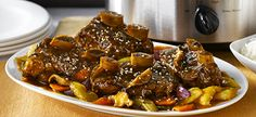 Slow Cooker Asian Braised Short Ribs - I'm making these tonight!