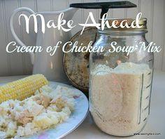 Make Ahead Cream of Chicken Soup Mix | Saving 4 Six