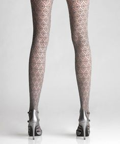 Another great find on #zulily! Silver Metal Bouclé Net Tights by Via Spiga #zulilyfinds