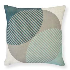 Crescent Teal Cushion 50cm