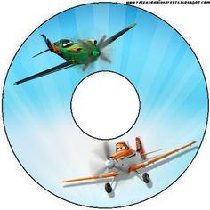 Aviões da Disney (Planes) - Mini Kit com molduras para convites, rótulos para guloseimas, lembrancinhas e imagens. - Fazendo a Nossa Festa