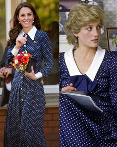 22 Times Kate Middleton Twinned With Princess Diana Kate Middleton Twins, Moda Kate Middleton, Princesa Kate Middleton, Kate Middleton Dress, Kate Middleton Style, Princess Kate, Princess Katherine, Princess Style, Princesa Diana