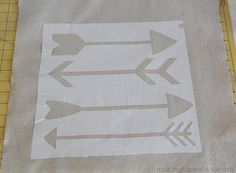 The arrow was my symbol for 2014 and it served me very well! DIY Stenciled Arrow Pillow