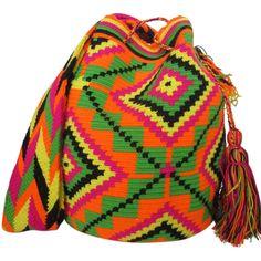 Rattlesnake Mochila Bag $90.00 FREE SHIPPING | Handmade and Fair Trade Wayuu Mochila Bags – LOMBIA & CO. | www.LombiaAndCo.com
