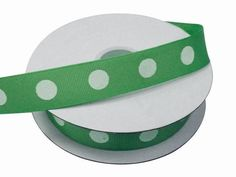 "25 Yards 7/8"" DIY Hunter Green Grosgrain Polka Dot Ribbon Wedding Party Dress Favor Gift Craft Decoration"