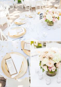 gold, navy (& pink) vintage wedding ideas. With sparkling or shiny navy tablecloths!