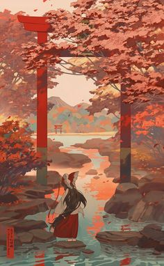 The art of animation anime scenery, fantasy landscape, landscape art, fantasy art, Illustration Fantasy, Japon Illustration, Landscape Illustration, Drawn Art, Art Japonais, Scenery Wallpaper, Japan Art, Japan Japan, Anime Scenery
