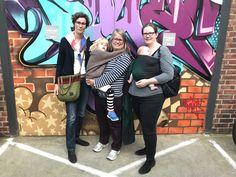Grünerlœkka for Nasjonalt Bæretreff 2017 with Rosie Knowles and Anne, preconference, babywearing