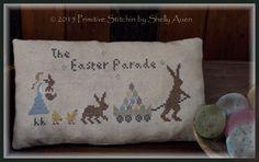 The Easter Parade Primitive Cross Stitch Design $7.00