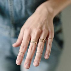 "considerthewldflwrs: "" When in doubt, start simple. Simple rings are easy to stack :sparkles: http://ift.tt/2dhviNx """