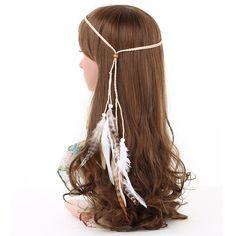 Wish - Shopping Made Fun Feather Headband, Feather Jewelry, Bohemia Style, Wish Shopping, Hair Band, Gypsy, Hair Accessories, Dreadlocks, Beads