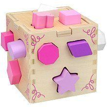 Wooden Shape Sorting Cube Pink by imaginarium. $24.99. Imaginarium Pink Wood Sorting Cube. Great for shape recognition, matching skills and improving dexterity, this 12-piece Wooden Shape-Sorting Cube is the ultimate shape sorter with 12 chunky, vibrant shapes that make a satisfying clunk as they drop into the hardwood cube! Then open the lid, take the pink, purple and white shapes out, and start all over again!
