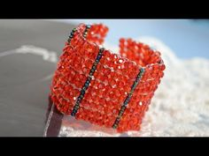 How to do a Beaded Ladder Stitch Bracelet  #Seed #Bead #Tutorials
