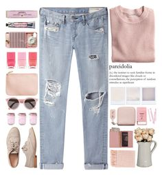 """Us"" by annaclaraalvez ❤ liked on Polyvore featuring H&M, rag & bone/JEAN, Gap, Acne Studios, BOBBY, Pier 1 Imports, Kilner, Royce Leather, Surya and Illesteva"