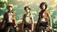 Attack On Titan Season 2, Watch Attack On Titan, Attack On Titan Eren, Armin, Eren And Mikasa, Iron Fortress, Humanoid Creatures, Anime Friendship, Attack On Titan