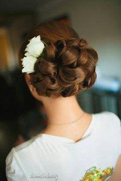 barrel curl updo | Barrel curls. Hair for the ball?