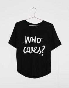 Camiseta estampado texto - Camisetas - Bershka España