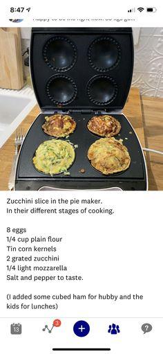 Ww Recipes, Snack Recipes, Cooking Recipes, Zucchini Lasagne, Zucchini Slice, Yummy Snacks, Yummy Food, Dash Recipe, Thermomix