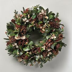 Iced Magnolia Wreath