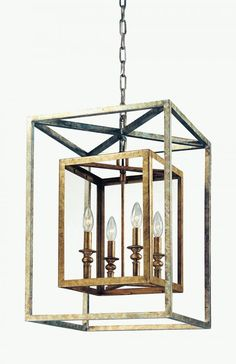 """DIMENSIONS: Tall 24.00"""" Wide 16.00"""" FINISH: GOLD SILVER LEAF OPTION: Interior REQUIRED COMPONENTS: Bulbs: 60 Watt Candelabra Bulbs (Not Included)"""