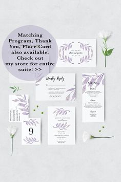 Floral wedding invitation set invitation card welcome banner floral wedding invitation set invitation card welcome banner photo booth frame stickers table number card name card stopboris Images