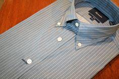 Faconnable  Pinstriped Sport Shirt Blue | #Mondo #Uomo #Naples #Fashion