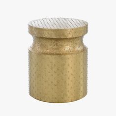 Hammered Brass Accent Table from Dear Keaton
