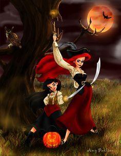 Image result for halloween disney princess art