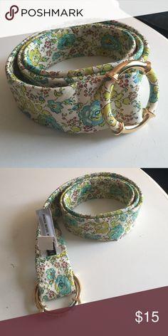 Jcrew floral belt Jcrew floral fabric belt w/ round gold buckle J. Crew Accessories Belts