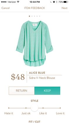Alice Blue - Sidra V-neck Blouse
