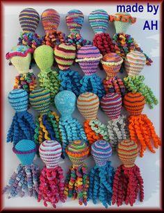 Deze inktvisjes zijn gemaakt  door Annelies Hamerlinck.