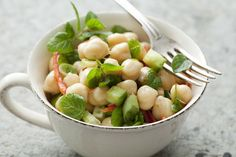 Chickpea Salad With Lemon And Mint