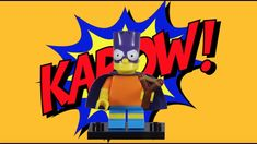 LEGO Bartman Minifigure Collectable Simpsons Minifigures Series 2 Stop Motion Build Lego Simpsons, Lego Projects, Stop Motion
