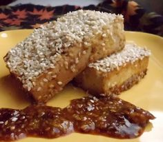 baked apple-dijon tofu #vegan