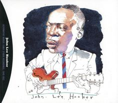 1995 John Lee Hooker - Alternative Boogie: Early Studio Recordings, 1948-1952 (Capitol Blues Collection 8) [Capitol 724383391226] cover illustrations by Joe Ciardiello #albumcover #portrait #Blues #Music