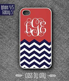 Monogram iphone5 case - Chevron phone cover for iPhone 4/4s  Samsung Galaxy S3 - Accessories for iPhone - iPhone Galaxy Case - $16.80  at http://casebyamy.etsy.com
