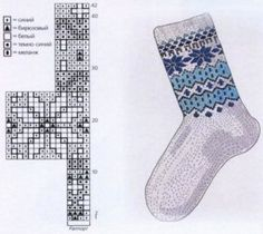 Узоры и схемы для вязания носков (фото и видео МК) Knitting Charts, Knitting Socks, Knitted Hats, Knit Socks, Mitten Gloves, Mittens, Fair Isle Pattern, Fair Isles, Fruit Recipes