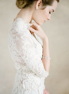 Styling: Joy Proctor Design | Gown: Samuelle Couture | Accessories: Bel Aire Bridal | Hair & Makeup: TEAM | Photo: KT Merry